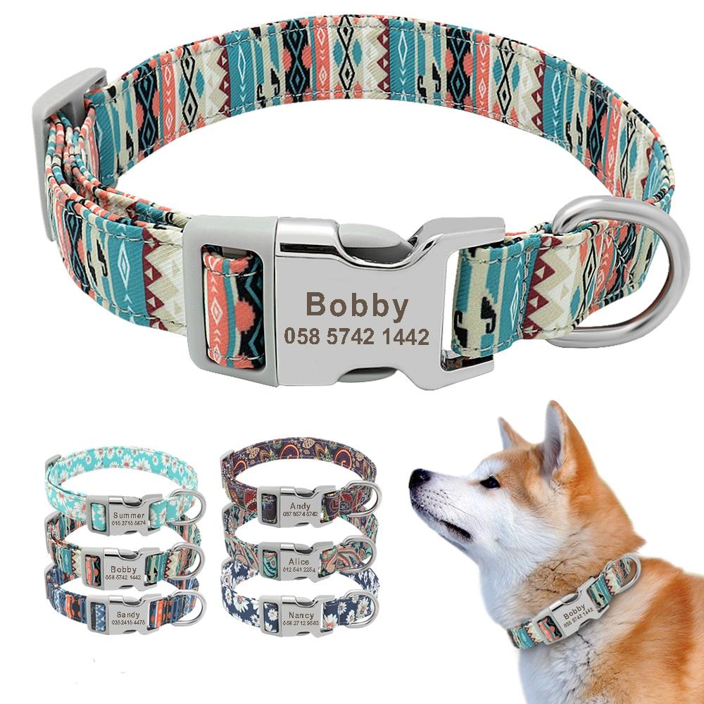 Customised Printed Nylon Dog Collar