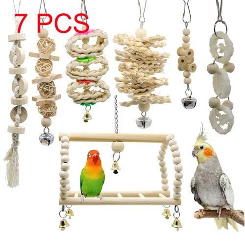 7pcs birds toys