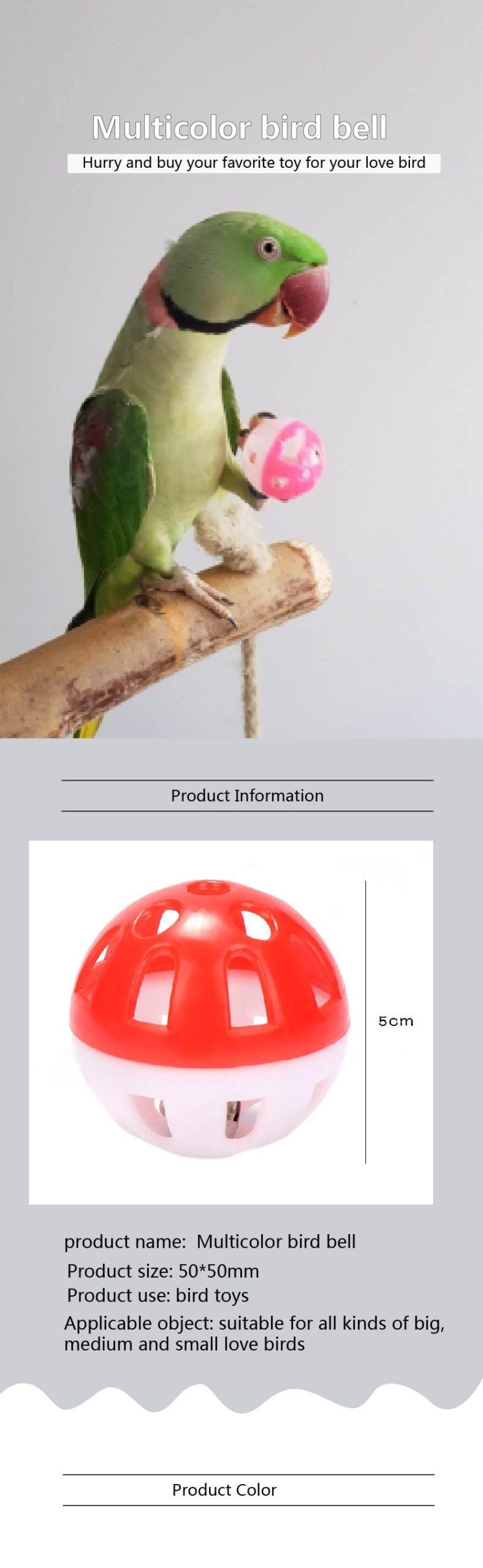 Hollow Bell Ball For Parakeet Cockatiel etc
