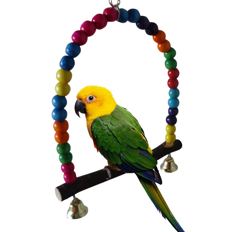 Natural Wooden Parrots Swing